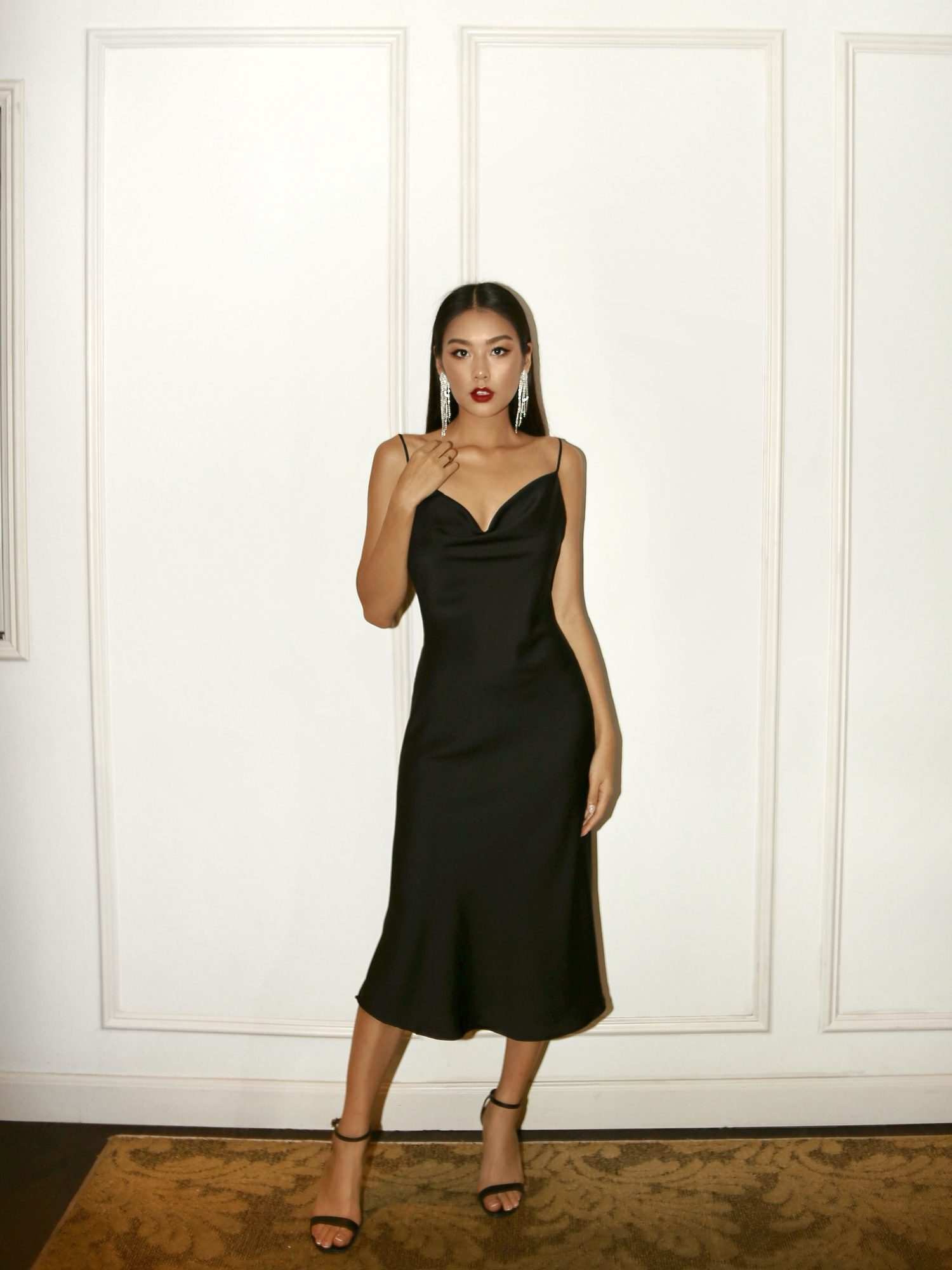 Noir Slip Dress